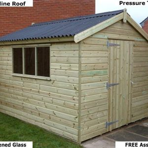 Platinum Titchfeld Apex Timber Shed - 1st Choice Leisure Buildings