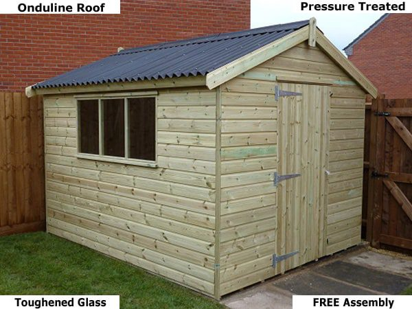 Platinum Titchfeld Apex Timber Shed - Garden Shed - 1st Choice Leisure Buildings