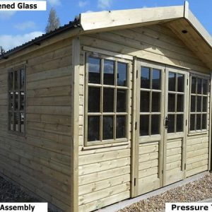 Platinum Winchester Transverse Apex Georgian Garden Studio - Summer House - 1st Choice Leisure Buildings