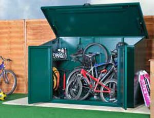 SafeStore Avondale Metal Bike Storage Shed - Secure Steel Bike Shed - 1st Choice Leisure Buldings