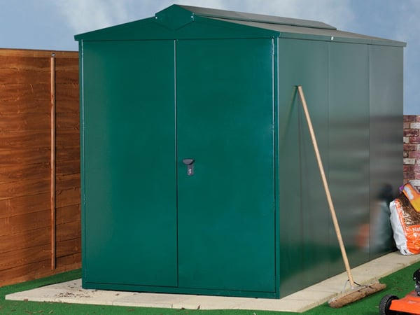 SafeStore Clydesdale Metal Pent Security Shed - Secure Steel Shed Workshop - 1st Choice Leisure Buildings