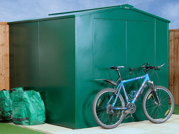 SafeStore Glendale 7x7 Metal Pent Security Shed - Secure Steel Shed Workshop - 1st Choice Leisure Buildings