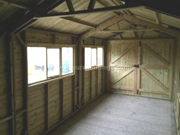 Platinum Wooden Garages Pressure Treated Free Assembly